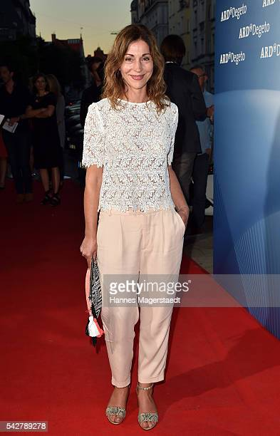Ulrike Tscharre during the ARD Degeto Get Together during the Munich Film Festival 2016 at Kaisergarten on June 24 2016 in Munich Germany