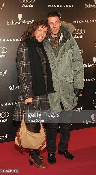 Ulrike Ulli Fleischer and Michi Beck during Michalsky Fashion Show at Rotes Rathaus in Berlin Arrivals and Show January 25 2007 at Rotes Rathaus in...