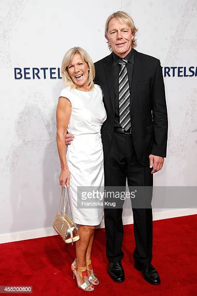Ulrike von der Groeben and Alexander von der Groeben attend the Bertelsmann Summer Party at the Bertelsmann representative office on September 10,...