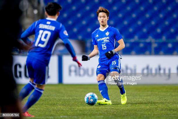 Ulsan Hyundai Defender Jung Seunghyun in action during their AFC Champions League 2017 Playoff Stage match between Ulsan Hyundai FC vs Kitchee SC at...