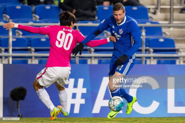 Ulsan Hyundai Forward Ivan Kovacec in action during their AFC Champions League 2017 Playoff Stage match between Ulsan Hyundai FC vs Kitchee SC at the...