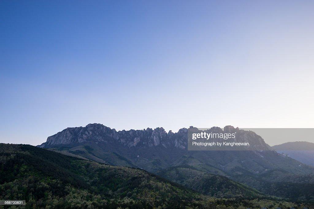 Ulsanbawi Rock, Seoraksan Mountain : Stock Photo