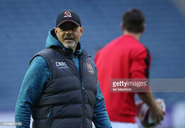 Ulster Head Coach Dan McFarland is seen prior to the Guinness PRO14 PlayOff Semi Final between Edinburgh and Ulster at Murrayfield on September 05...