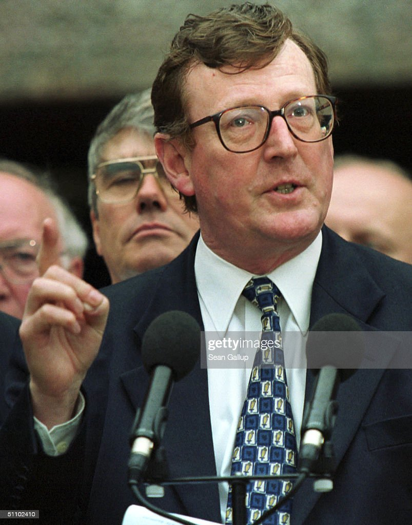 Ulster Unionist Party Leader David Trimble Voices His Objections
