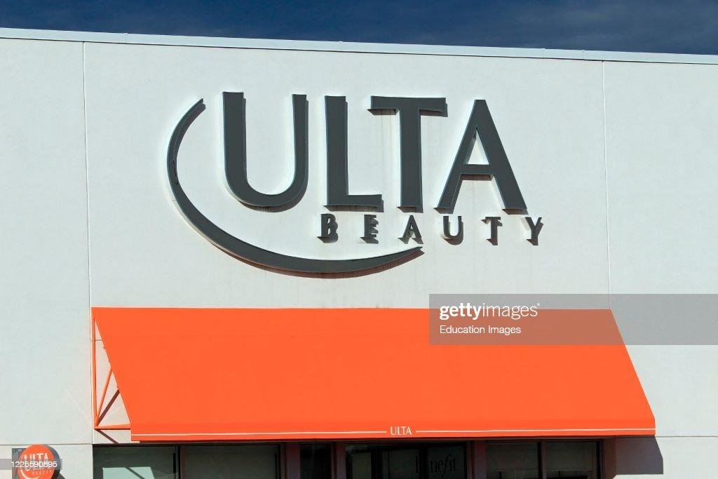 Ulta Beauty store entrance sign : News Photo