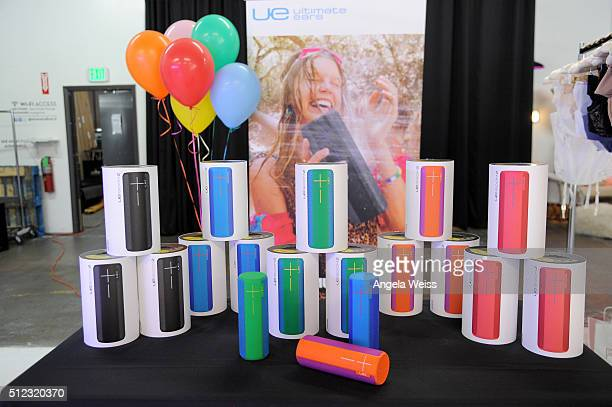 Ultimate Ears bluetooth speakers displayed at Kari Feinstein's Style Lounge presented by LIFX on February 25 2016 in Los Angeles California
