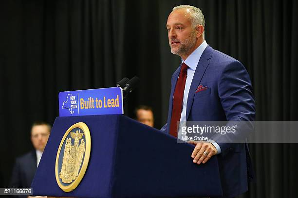 Ultimate Fighing Championship: CEO Lorenzo Fertitta speaks to the media prior to a bill signing to legalize Mixed Martial Arts fighting in the state...
