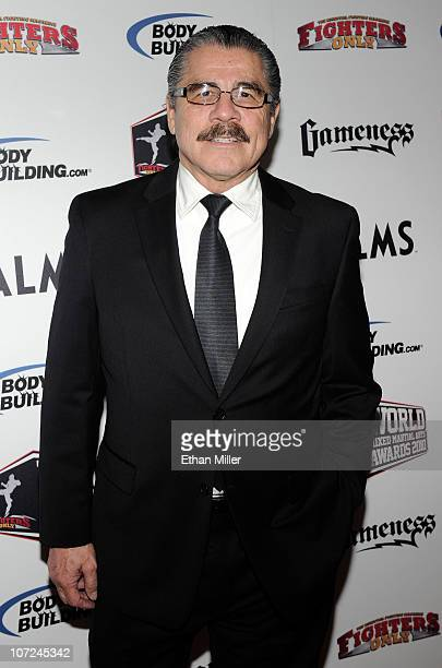 Ultimate Fighting Championship cutman Jacob Stitch Duran arrives at the third annual Fighters Only World Mixed Martial Arts Awards 2010 at the Palms...