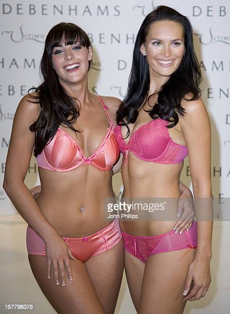Ultimo Models Lucy Clarkson And Katie Green Are Joined By 20 'Real Women' At Debenhams In Oxford Street Central London To Promote The Bra Clinic A...