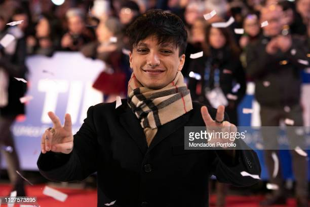 Ultimo on the Red Carpet of the 69th Sanremo Music Festival Sanremo Fabruary 4th 2019