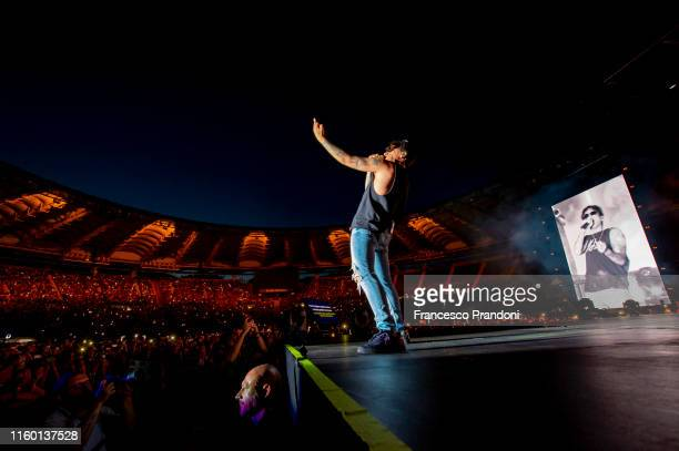 Ultimo performs at Olimpico Stadium on July 04 2019 in Rome Italy