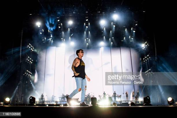 Ultimo performs at Olimpico Stadium on July 4 2019 in Rome Italy