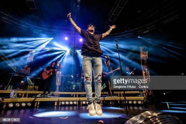 Ultimo performs on stage at Fabrique on May 26 2018 in Milan Italy