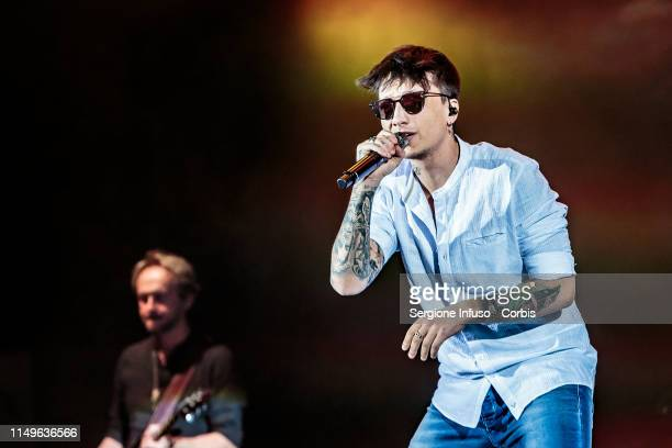 Ultimo performs on stage at Mediolanum Forum on May 16 2019 in Milan Italy