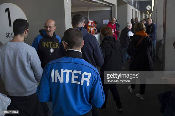 Ultra fans in the Stadio Giuseppe Meazza also known as the San Siro before Internationale took on Cagliari in an Italian Serie A fixture The match...