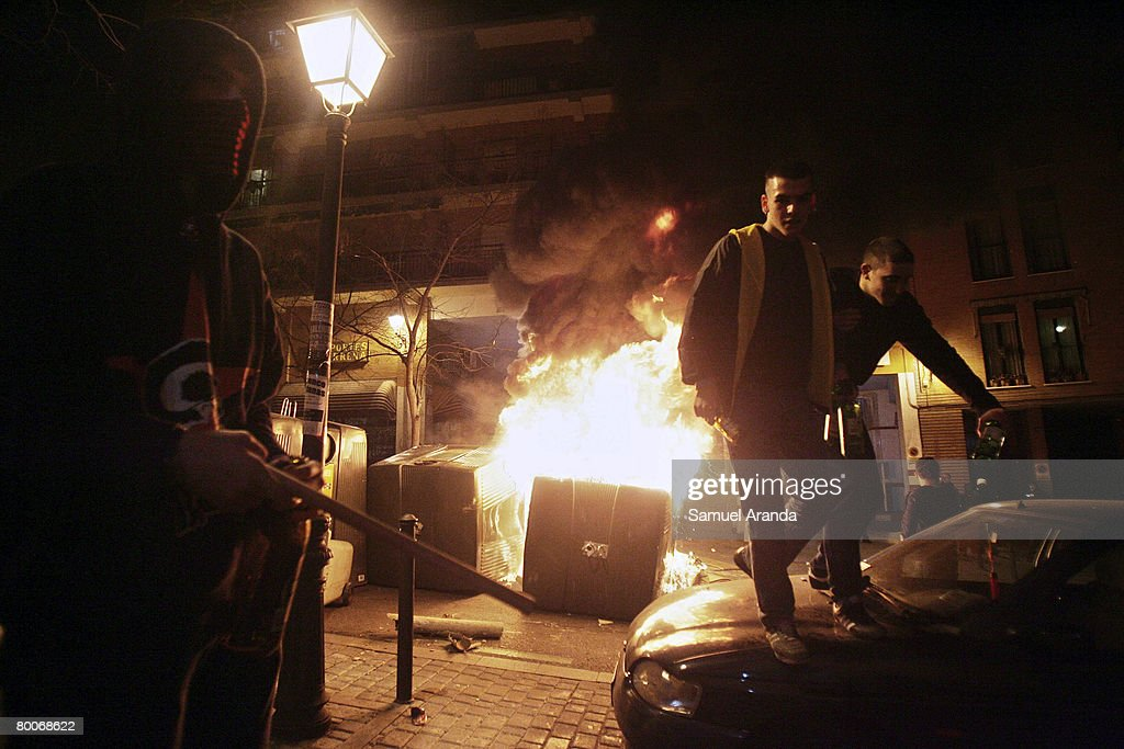 Extreme Right  'Nation and Revolution' Riots In Madrid : News Photo