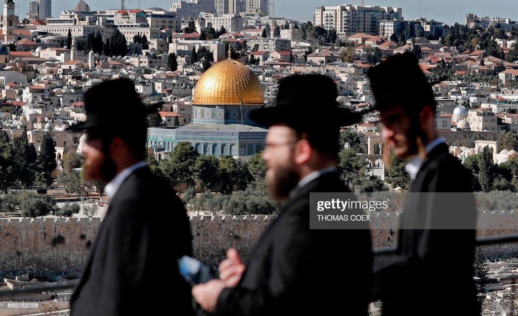 TOPSHOT-ISRAEL-PALESTINIAN-JERUSALEM-CONFLICT : News Photo