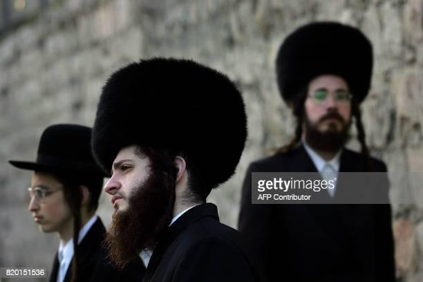 Ultra Orthodox Jews enjoy Purim festivities in the Mea Sharim neighborhood of Jerusalem 15 March 2006 The feast of Purim marks the salvation of the...
