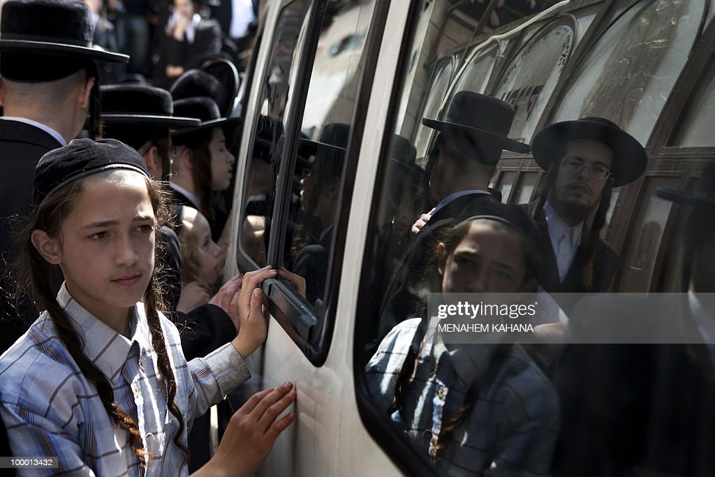 Ultra Orthodox Jews participate in a cer