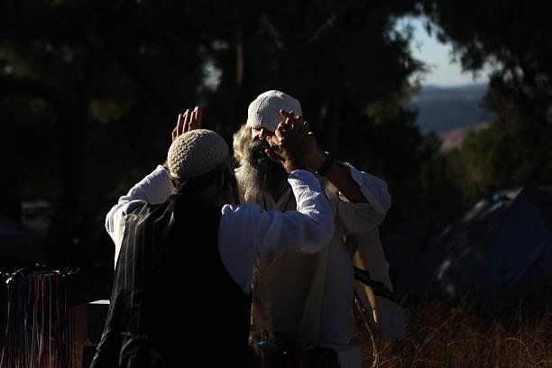 Ultra religious jewish men greet each ot pictures getty images ultra religious jewish men greet each ot m4hsunfo