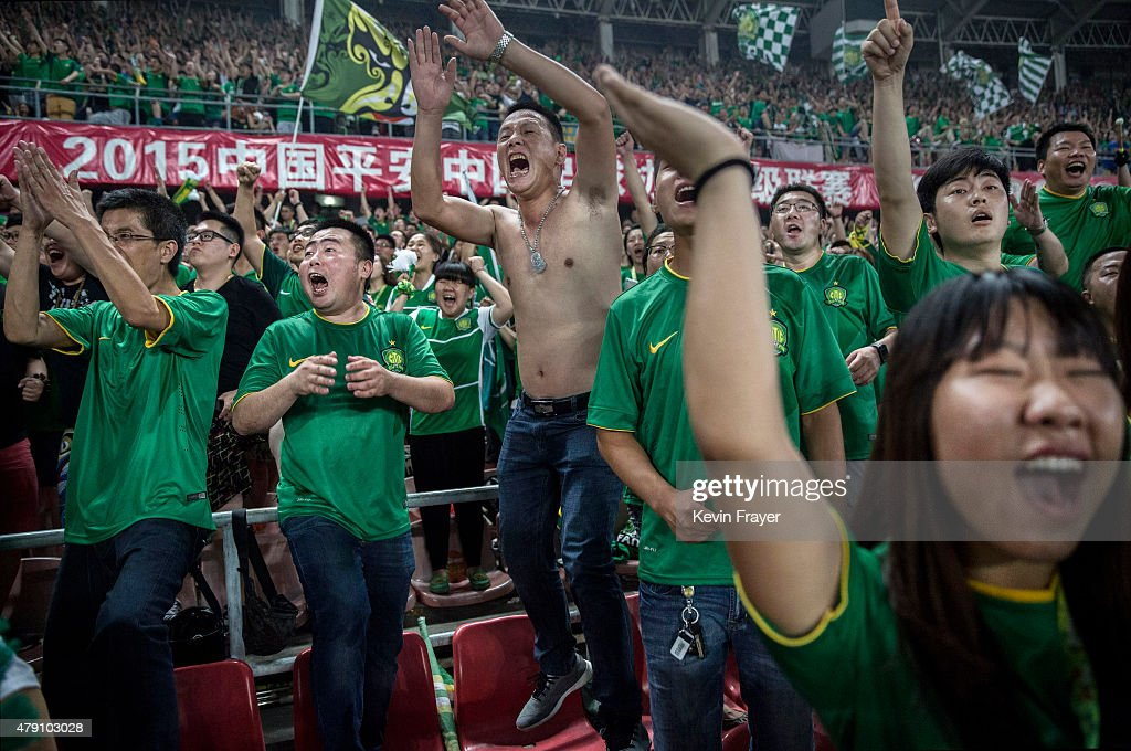 Beijing's Ultras A Part Of Growing Football Culture In China : News Photo