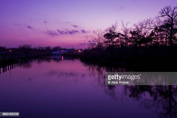 Ultra Violet Sunset on the River