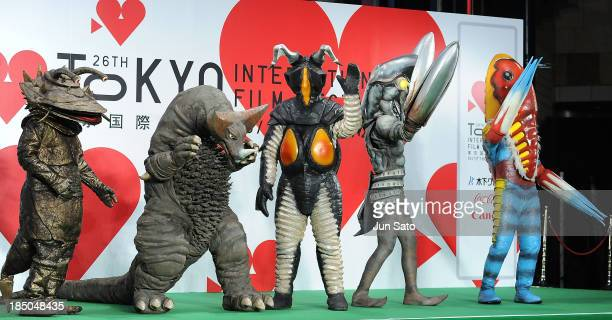 Ultraman/ Monsters attend the 26th Tokyo International Film Festival Opening Ceremony at Roppongi Hills on October 17 2013 in Tokyo Japan