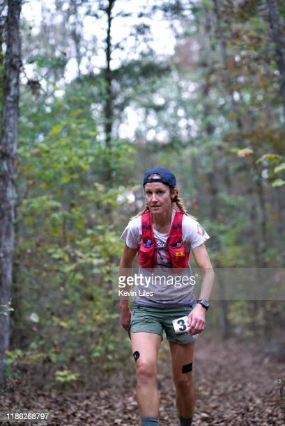Big Backyard Ultra Maggie Guterl in action in woods during race Guterl won the challenge as the final remaining of 72 entrants Big Dog's Backyard...