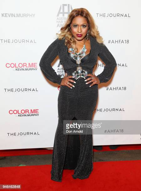 Ultranate attends the 2018 Australian Hair Fashion Awards at Luna Park on April 15 2018 in Sydney Australia