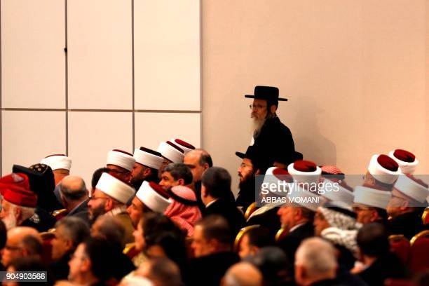 Ultraorthodox Jewish men belonging to Neturei Karta a small faction of antiZionist ultraOrthodox Jews who oppose Israel's existence attend along with...