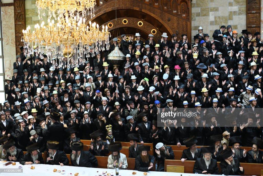 ISR: Ultra-Orthodox Jews celeberate Purim Holiday In Jerusalem