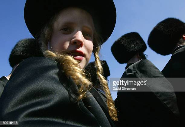 Ultraorthodox Jews dance at the wedding June 1 2004 of David Alter son of the head of the Ger Hasidic dynasty in Jerusalem Tens of thousands of...