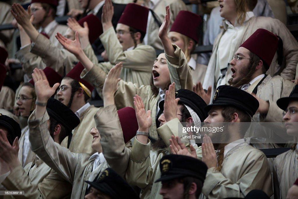 Orthodox Beit Shemesh: Ultra-Orthodox Jews From The Lelov Hasidic Sect, Celebrate