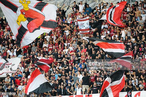Ultras of Nice during the Ligue 1 match between OGC Nice and FC Lorient on October 2 2016 in Nice France