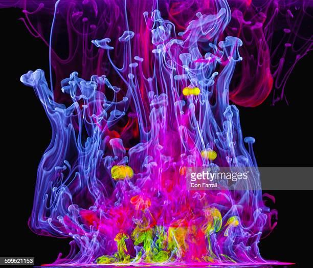 Ultraviolet dye under water