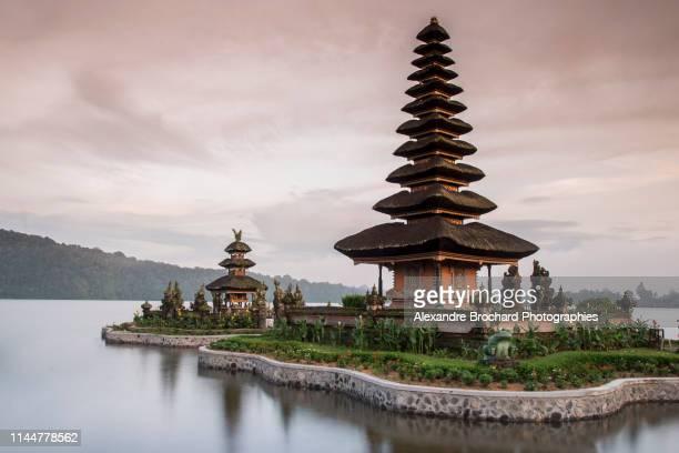 ulun danu bratan temple - lake bratan area stock pictures, royalty-free photos & images
