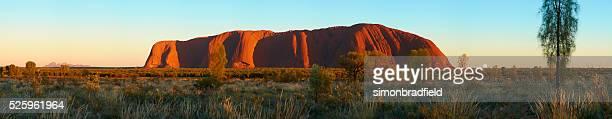 Panorama roca de ayers amanecer