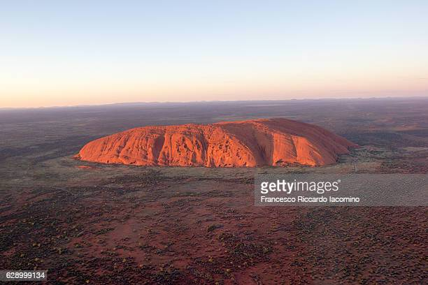 Uluru, red center. Aerial view. Australia