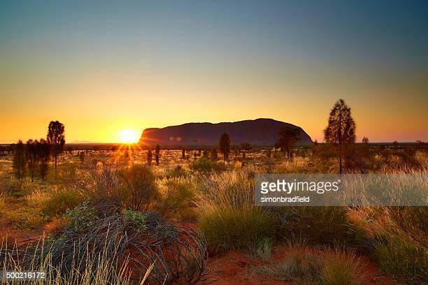 uluru sunset northern territory - uluru stock photos and pictures