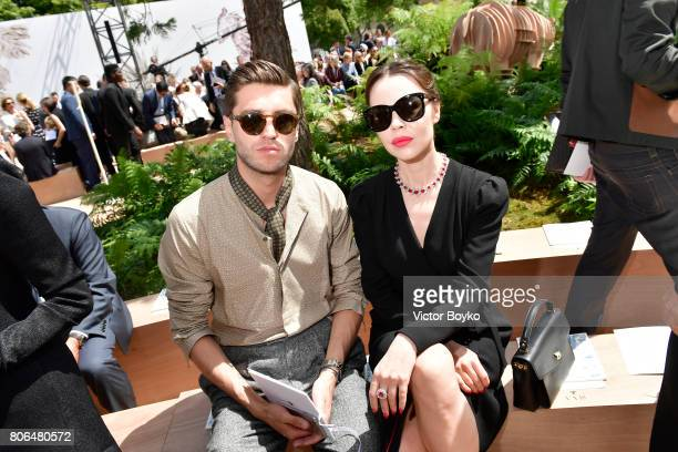 Ulyana Sergeenko and a guest attends the Christian Dior Haute Couture Fall/Winter 20172018 show as part of Haute Couture Paris Fashion Week on July 3...