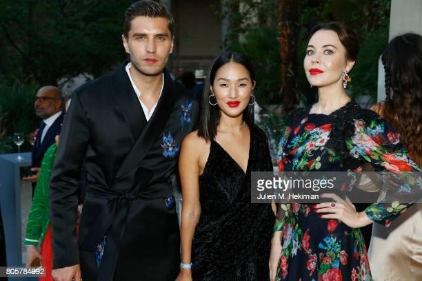Ulyana Sergeenko and guests attend the amfAR Paris Dinner 2017 at Le Petit Palais on July 2 2017 in Paris FranceÊ