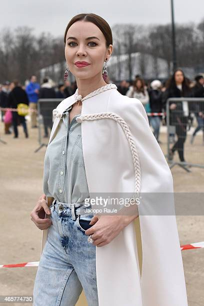 Ulyana Sergeenko arrives at Valentino Fashion Show during Paris Fashion Week Fall Winter 2015/2016 on March 10 2015 in Paris France