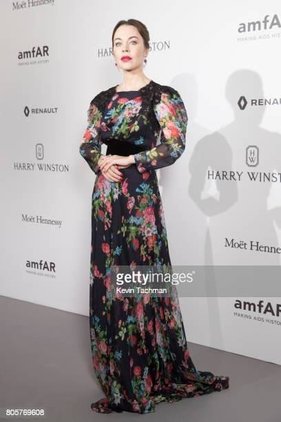Ulyana Sergeenko arrives for the amfAR Paris Dinner at Le Petit Palais on July 2 2017 in Paris France