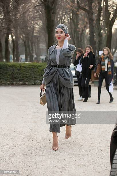 Ulyana Sergeenko at the Dior Couture show at Musee Rodin on January 23 2017 in Paris France