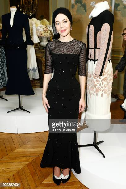 Ulyana Sergeenko at the presentation of her collection as part of Paris Fashion Week Haute Couture Spring Summer 2018 show as part of Paris Fashion...
