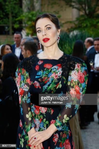 Ulyana Sergeenko attends the amfAR Paris Dinner 2017 at Le Petit Palais on July 2 2017 in Paris France