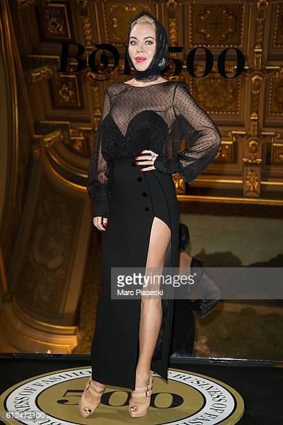 Ulyana Sergeenko attends the 'BoF500' Cocktail Event as part of the Paris Fashion Week Womenswear Spring/Summer 2017 at Hotel de Ville on October 4...