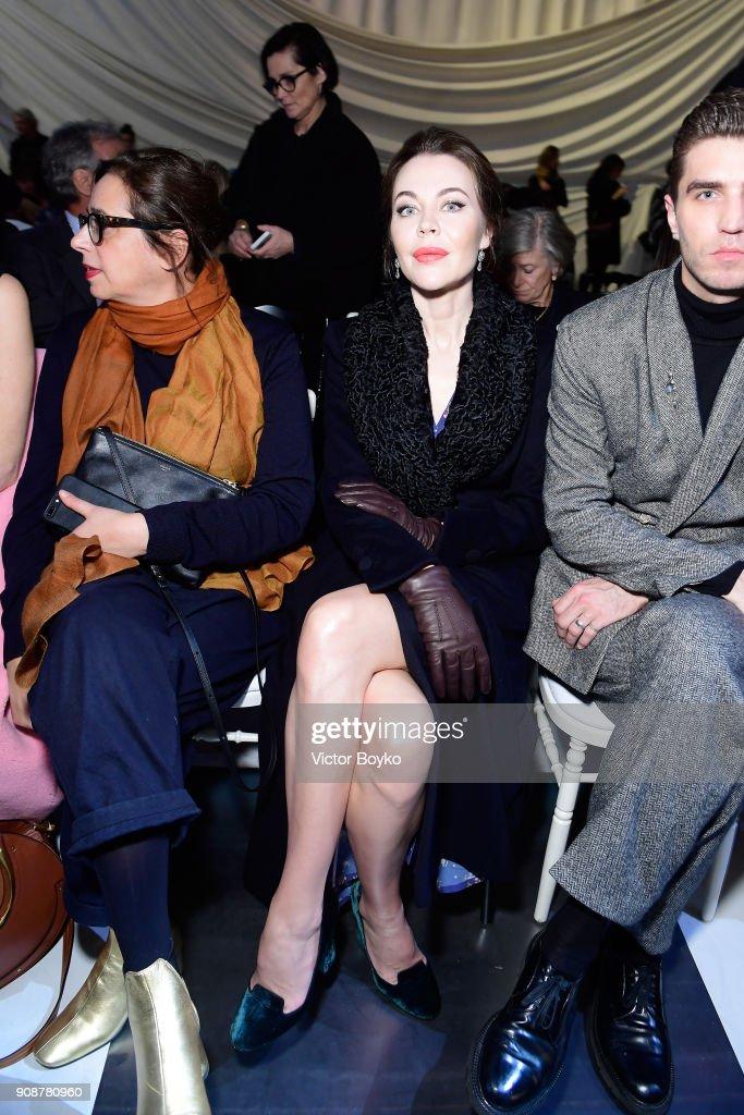Christian Dior : Front Row - Paris Fashion Week - Haute Couture Spring Summer 2018