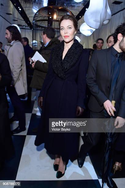 Ulyana Sergeenko attends the Christian Dior Haute Couture Spring Summer 2018 show as part of Paris Fashion Week on January 22 2018 in Paris France