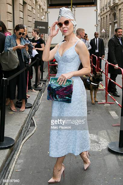 Ulyana Sergeenko attends the Elie Saab Haute Couture Fall/Winter 20162017 show as part of Paris Fashion Week on July 6 2016 in Paris France